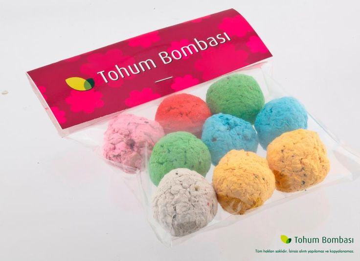 tohum bombası tohumlu doğa kağıt promosyon ürünü 3
