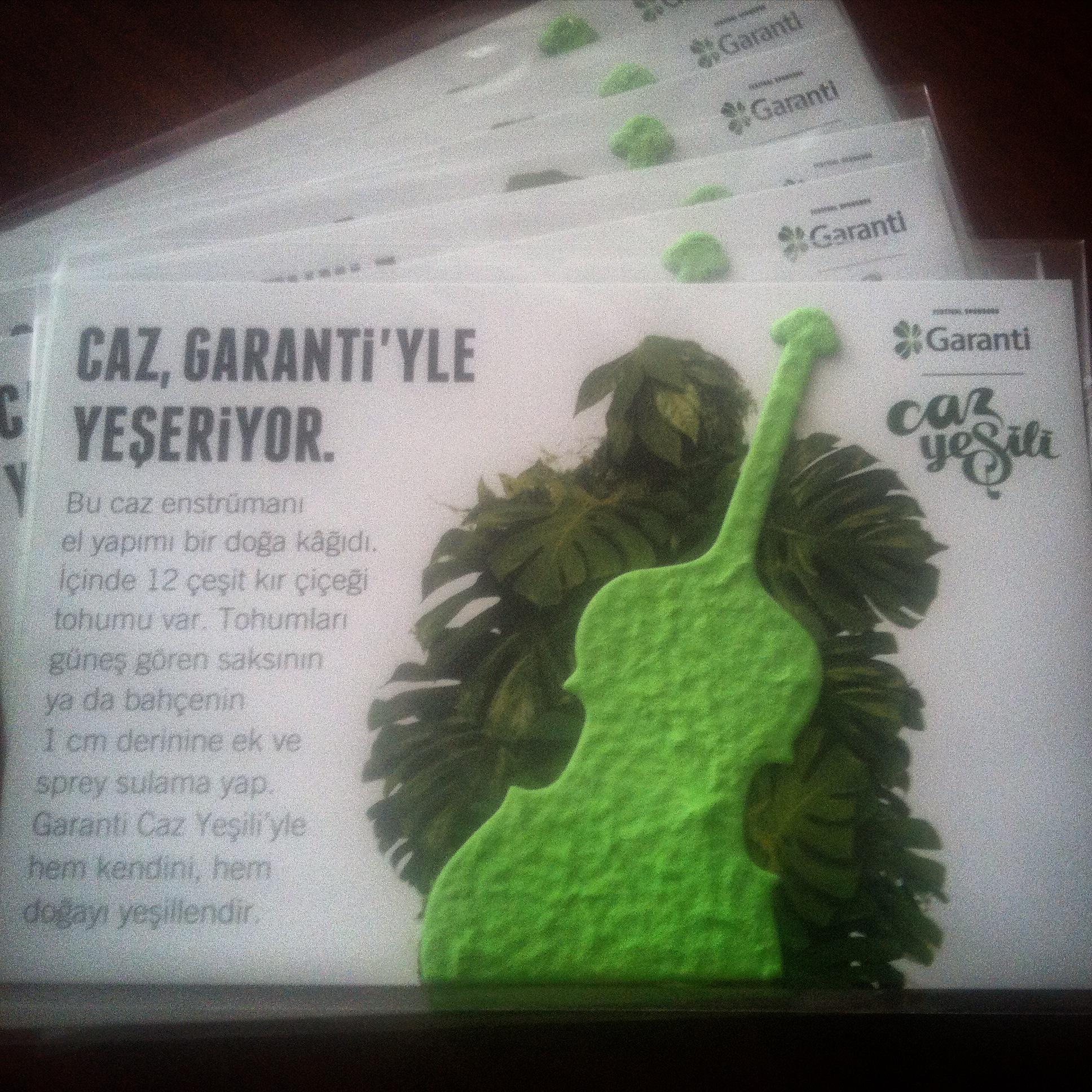 Garanti Caz Yeşili Doğa Kağıt ile yeşeriyor